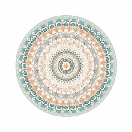 Runder gemusterter Vinylteppich im modernen Stil für die Küche - Rondeo