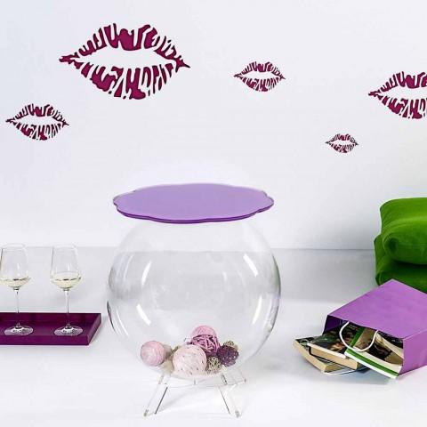 Biffy runder Tisch / Behälter in Lavendelfarbe, modernes Design