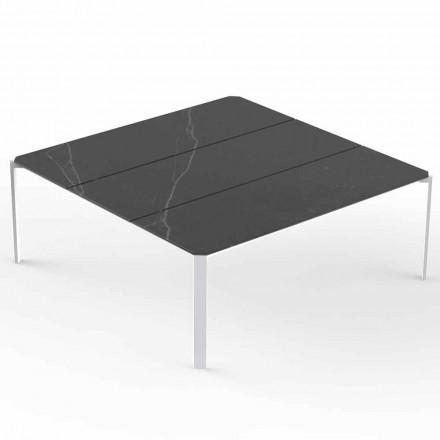 Square Garden Couchtisch, Marmor-Effekt-Platte - Tablet von Vondom