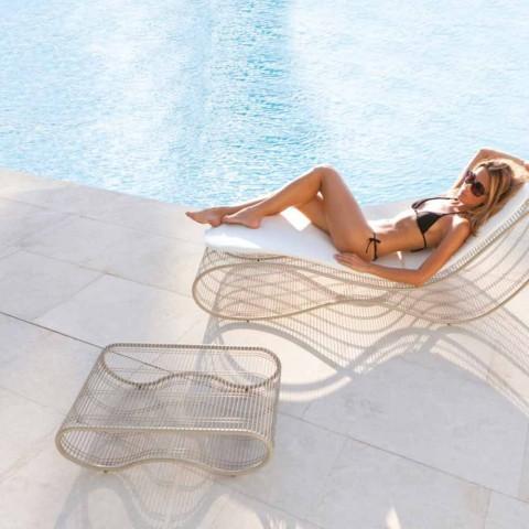 Outdoor-Couchtisch modernes Design Breez, weiß oder taupe