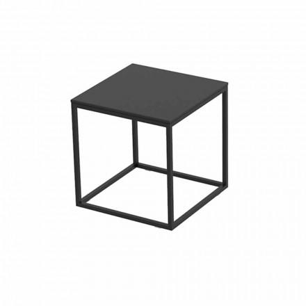 Couchtisch im Freien aus Aluminium und quadratischem schwarzem Laminat - Suave von Vondom