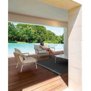 Calacatta Gres Modern Design Garten Couchtisch - Cruise Alu von Talenti