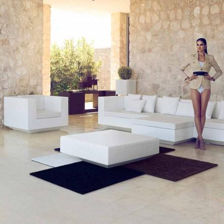 Quadratischer Gartentisch Vela Vondom, modernes Design aus Polyethylen