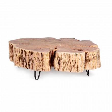 Homemotion Couchtisch mit geformter Platte in Akazienholz - Nabucco