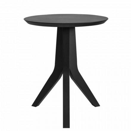 Moderner runder Entwurf schwarz lackierter Couchtisch aus Holz - Sperone
