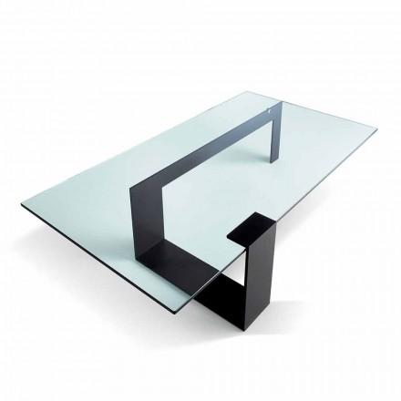 Modernes Design extraleichter Couchtisch aus Glas Made in Italy - Scoby