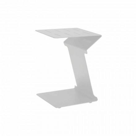 Beistelltisch für Sofa für den Außenbereich in Weiß oder Anthrazit Aluminium - Deniz