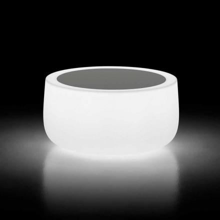 Heller Couchtisch im Freien mit LED-Licht und HPL-Platte Made in Italy - Belida