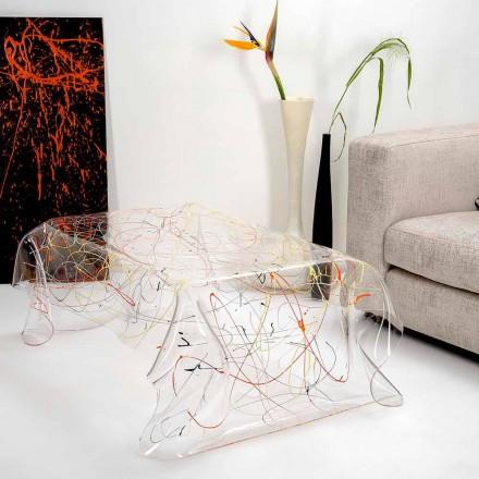 Moderner Tisch aus mehrfarbigem Plexiglas hergestellt in Italien, Asien