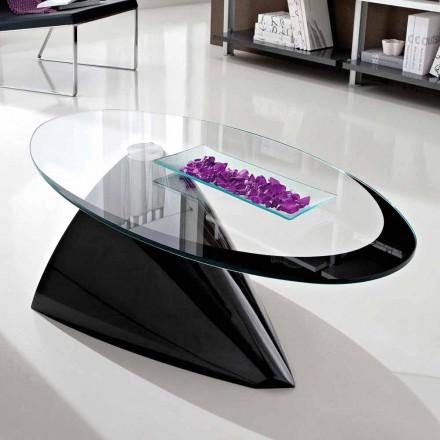 Couchtisch mit Glasplatte mit Made in Italy Siebdruck - Campari