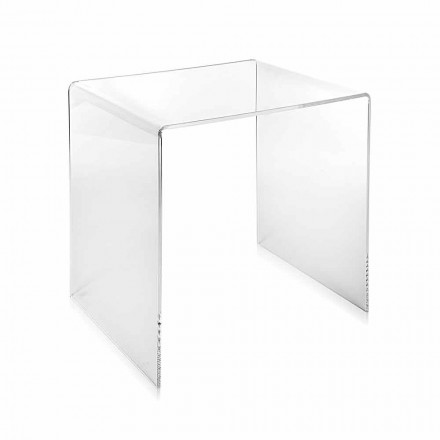 Modernes Design transparenter Couchtisch 40x40cm Terry Small, made in Italy