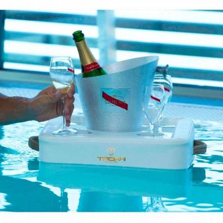 Couchtisch - schwimmendes Design-Tablett aus Trona nautischem Öko-Leder