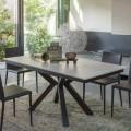 Ausziehbarer Esstisch 2,8 m mit Beinen aus Keramik und Metall - Paoluccio