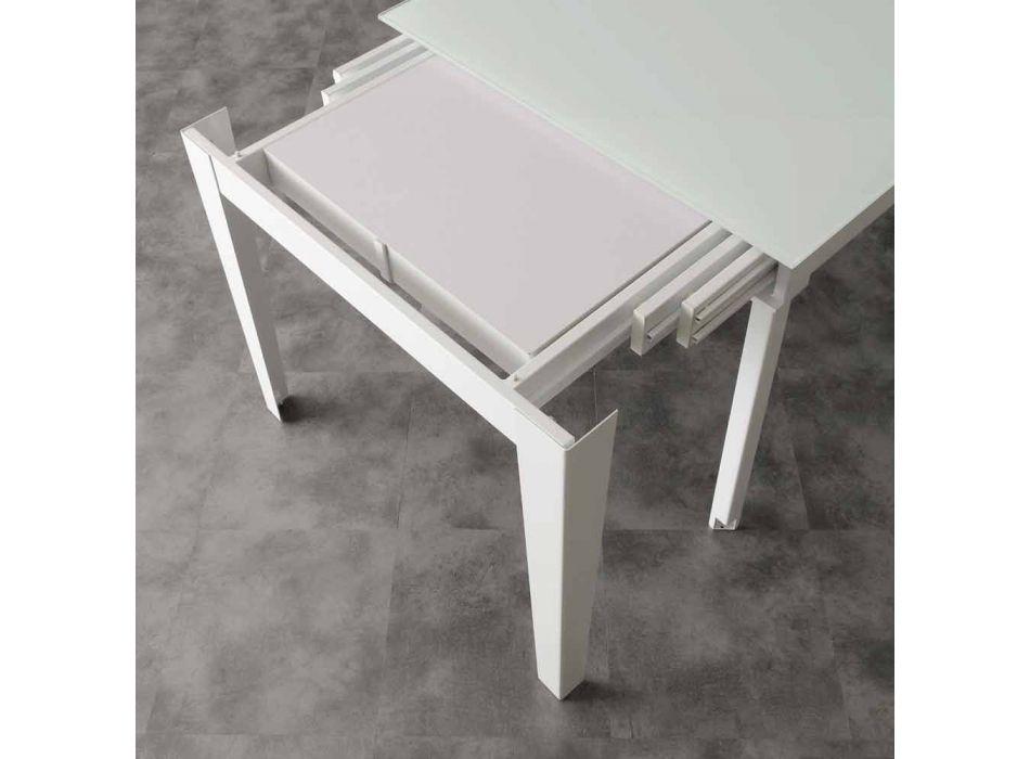 Tisch mit Abdeckplatte aus gehärtetem Glas Baltimore modernen