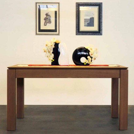 Ausziehbarer Designtisch aus massiver Eiche, hergestellt in Italien, Frank