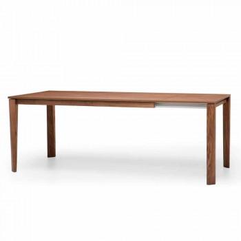 Ausziehbarer Designtisch mit Eschenholzgestell, Medicina