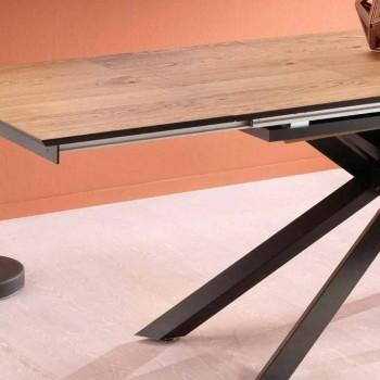 Ausziehbarer Designtisch mit Metallbeinen, Lucera