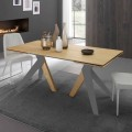 Ausziehbarer Esstisch mit Eichenholzplatte Daryl, made in Italy