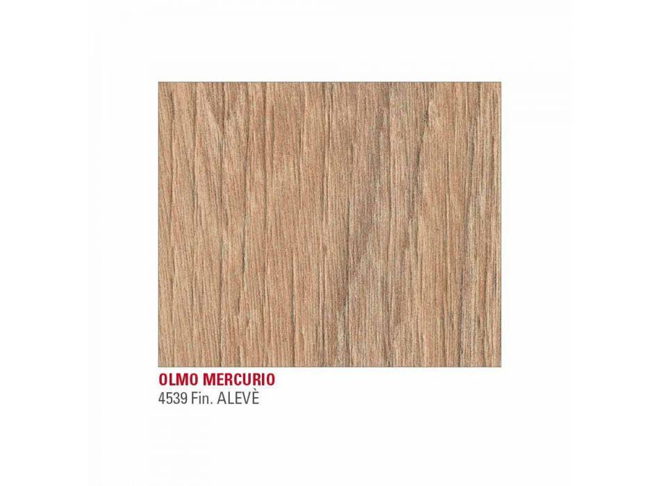 Ausziehbarer Tisch Bis zu 222 cm in HPL Holzoptik Made in Italy - Vulcano