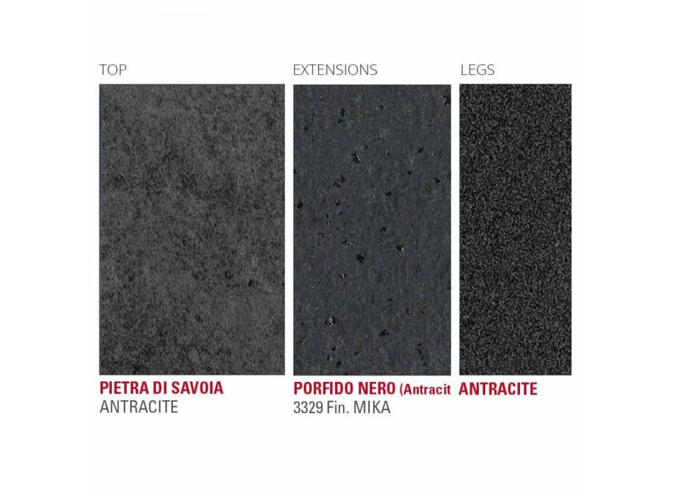 Ausziehbarer Tisch Bis zu 240 cm mit Laminamplatte Made in Italy - Maltesisch