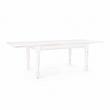 Klassischer ausziehbarer Tisch Bis zu 240 cm in Mango Wood Homemotion - Tongo