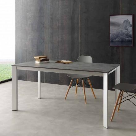 Ausziehbarer Tisch bis 3m aus Alluminium und Laminat Hpl Urbino