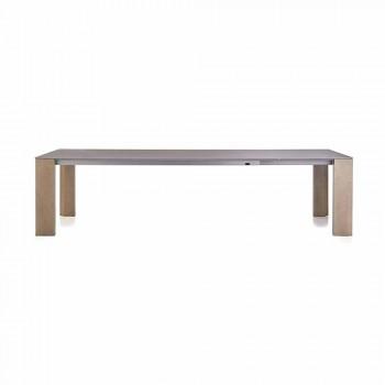 Ausziehbarer Tisch Bis zu 300 cm in Keramik- und Holzbeinen - Ipanemo