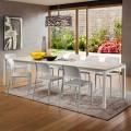Ausziehbarer Tisch bis 334 cm in HPL Holzoptik Made in Italy - Remigio