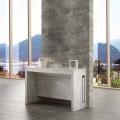 Ausziehbarer Tisch/Konsole aus Holz finish Marmor bis 8/10 Sitzplätze Ussana