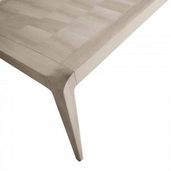 Ausziehbarer Tisch in natürlichen grauen Nussbaum modernes Design Matis