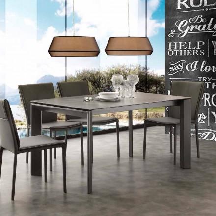 Moderner Tisch ausziehbar mit Tischplatte aus Glaskeramik Filadelfia