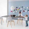 Ausziehbarer moderner Tisch mit Aluminiumstruktur - Blera