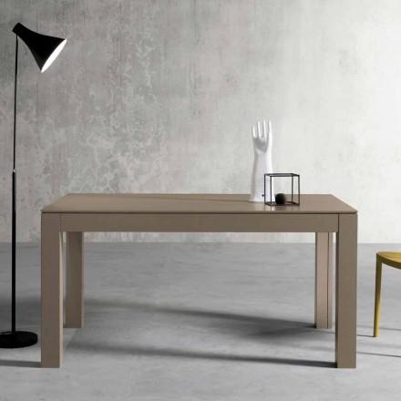 Moderner ausziehbarer Tisch aus Eschenholz made in Italy, Leffe