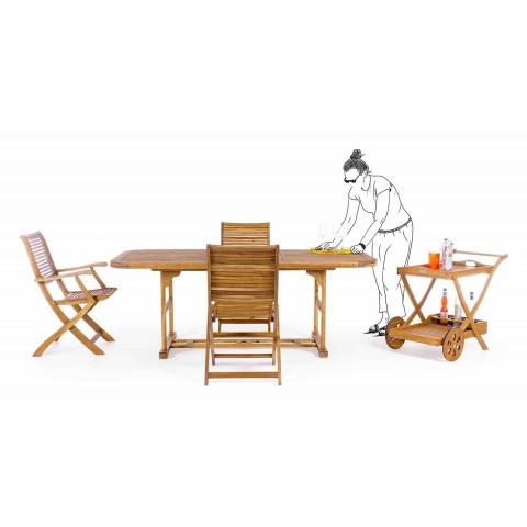 Ausziehbarer rechteckiger hölzerner Gartentisch Klassisches Design - Roxen