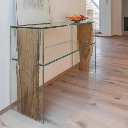 Konsolentisch aus Briccola Holz aus Venedig und Glas Fenice