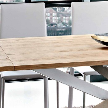 Ausziehbarer Küchentisch Bis zu 280 cm aus Holz Made in Italy - Carlino