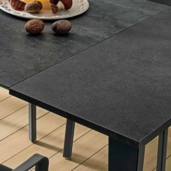 Ausziehbarer Küchentisch aus edler Laminamkeramik Made in Italy - Efisto