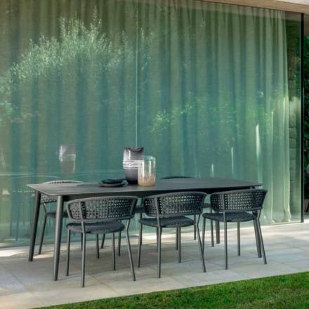 ausziehbarer Gartentisch bis zu 3 mt Talenti Moon Alu aus Keramik