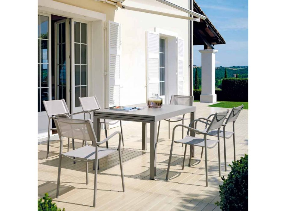 Ausziehbarer Tisch im Freien Bis zu 280 cm aus Metall Made in Italy - Dego