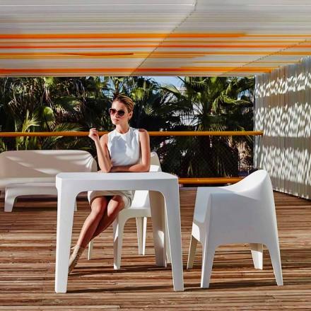 Quadratischer Outdoor-Tisch Solid von Vondom aus Polypropylen, modernes Design 4 Stück