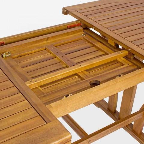 Ausziehbarer Gartentisch im Freien Klassisches ovales Design aus Holz - Roxen