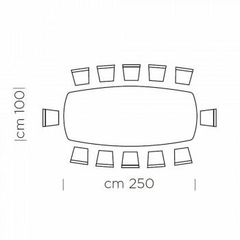 Barrel Esstisch mit furnierter Platte Made in Italy - Settimmio