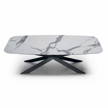 Fass Esstisch aus Hypermarble und Stahl Made in Italy, Luxus - Grotte