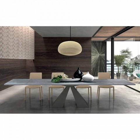 Ausziehbarer Esstisch bis 300 cm in HPL Laminat Made in Italy - Dalmata