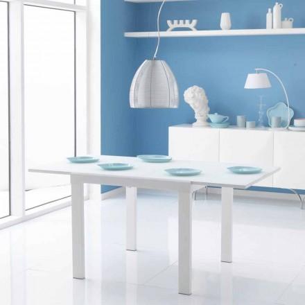 Esstisch mit Glas Tischplatte ausziehbar Teo