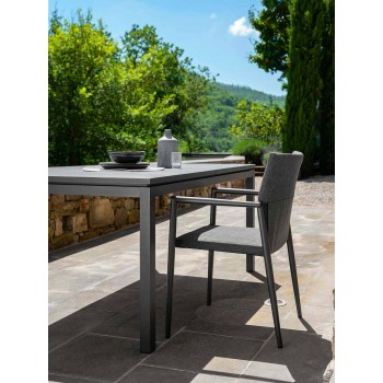 Ausziehbarer Garten-Esstisch aus Aluminium - Adam von Talenti