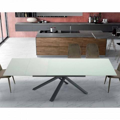 Ausziehbarer Esstisch Bis zu 260 cm in modernem Designglas - Gabicce