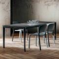 Ausziehbarer Esstisch Bis zu 240 cm in Laminam Made in Italy - Fantastisch