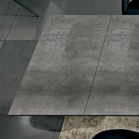 Ausziehbarer Esstisch bis 240 cm aus Laminam Made in Italy - Settimmio