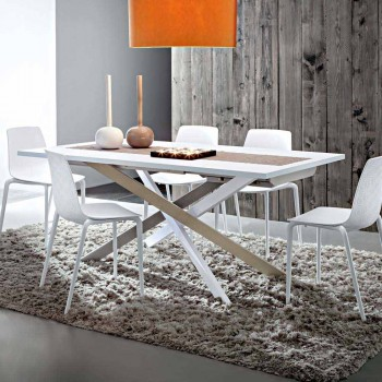 Ausziehbarer Esstisch Bis zu 250 cm in Fenix Made in Italy - Carlino